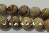 CPT455 15.5 inches 14mm round picture jasper beads wholesale