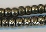 CPY102 15.5 inches 8*12mm rondelle pyrite gemstone beads wholesale
