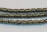 CPY120 15.5 inches 4*6mm tube pyrite gemstone beads wholesale