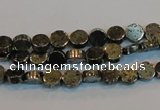 CPY150 15.5 inches 6mm coin pyrite gemstone beads wholesale