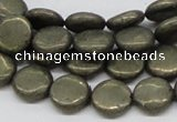 CPY17 16 inches 12mm coin pyrite gemstone beads wholesale