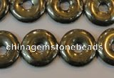 CPY339 15.5 inches 18mm donut pyrite gemstone beads wholesale