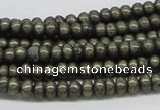 CPY37 16 inches 4*8mm rondelle pyrite gemstone beads wholesale