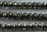 CPY427 15.5 inches 2.5*4mm faceted rondelle pyrite gemstone beads