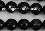 CPY503 15.5 inches 10mm faceted round natural chalcopyrite beads