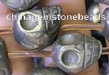 CPY825 15.5 inches 12*14*14mm skull pyrite gemstone beads