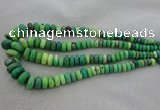 CRB1108 15.5 inches 5*8mm - 9*18mm rondelle grass agate beads