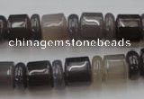CRB145 15.5 inches 6*12mm & 10*12mm rondelle grey agate beads