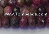CRB1833 15.5 inches 5*8mm faceted rondelle tourmaline beads