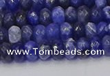 CRB1856 15.5 inches 4*6mm faceted rondelle sodalite beads