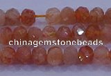 CRB1873 15.5 inches 2.5*4mm faceted rondelle sunstone beads
