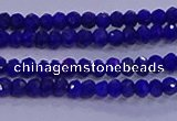 CRB1909 15.5 inches 2*3mm faceted rondelle lapis lazuli beads
