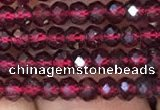 CRB1939 15.5 inches 2.5*4mm faceted rondelle red garnet gemstone beads