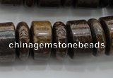 CRB200 15.5 inches 6*18mm – 13*18mm rondelle bronzite gemstone beads