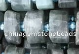 CRB2126 15.5 inches 9mm - 10mm faceted tyre kyanite beads