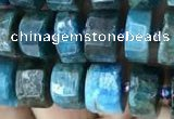 CRB2145 15.5 inches 7mm - 8mm faceted tyre apatite gemstone beads