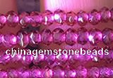 CRB2211 15.5 inches 2*3mm faceted rondelle garnet beads wholesale