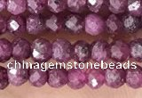 CRB2244 15.5 inches 2*3mm faceted rondelle ruby gemstone beads