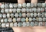 CRB2300 15.5 inches 7mm - 8mm faceted tyre ghost gemstone beads