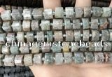 CRB2301 15.5 inches 8mm - 9mm faceted tyre ghost gemstone beads