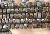 CRB2307 15.5 inches 10mm - 11mm faceted tyre pietersite beads