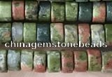 CRB2565 15.5 inches 2*4mm heishi unakite beads wholesale