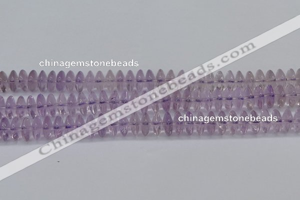 CRB262 15.5 inches 5*12mm rondelle amethyst gemstone beads