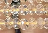 CRB3011 15.5 inches 4*6mm faceted rondelle citrine beads