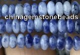 CRB4005 15.5 inches 2.5*4.5mm rondelle blue spot stone beads wholesale