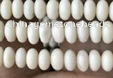 CRB4010 15.5 inches 2.5*4.5mm rondelle white fossil jasper beads