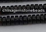 CRB418 15.5 inches 5*8mm rondelle black agate beads wholesale