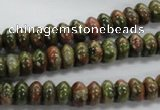 CRB47 15.5 inches 5*8mm rondelle unakite gemstone beads