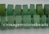 CRB475 15.5 inches 8*14mm tyre green aventurine beads wholesale