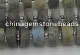 CRB484 15.5 inches 7*12mm tyre labradorite gemstone beads