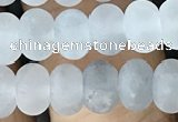 CRB5001 15.5 inches 4*6mm rondelle matte cloudy quartz beads wholesale