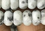 CRB5060 15.5 inches 5*8mm rondelle matte sesame jasper beads