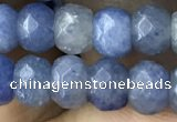 CRB5106 15.5 inches 4*6mm faceted rondelle blue aventurine beads