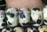 CRB5158 15.5 inches 5*8mm faceted rondelle dalmatian jasper beads