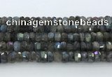 CRB5621 15.5 inches 5*9mm – 6*10mm faceted rondelle labradorite beads