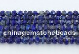 CRB5628 15.5 inches 5*7mm – 7*8mm faceted rondelle lapis lazuli beads