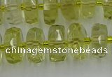 CRB574 15.5 inches 7*12mm faceted rondelle lemon quartz beads