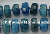 CRB592 15.5 inches 8*16mm faceted rondelle apatite beads
