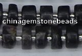 CRB632 15.5 inches 6*10mm tyre charoite gemstone beads