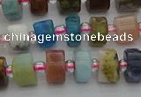 CRB671 15.5 inches 5*8mm tyre mixed gemstone beads wholesale