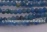 CRB700 15.5 inches 2*3mm faceted rondelle apatite gemstone beads