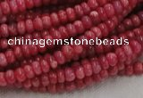 CRC05 16 inches 4*6mm rondell rhodochrosite gemstone beads wholesale