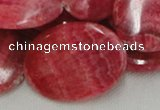 CRC09 16 inches 30*40mm oval rhodochrosite gemstone beads wholesale