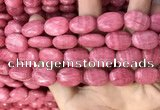 CRC1063 15.5 inches 13*18mm oval rhodochrosite beads wholesale