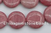 CRC693 15.5 inches 20mm flat round rhodochrosite beads wholesale