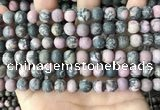 CRD32 15.5 inches 8mm round matte rhodonite beads wholesale